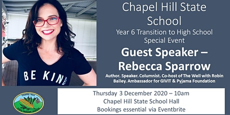 Rebecca Sparrow's Tips to High School Transition Success tickets