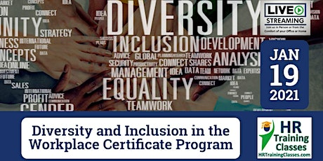 2-Day Diversity and Inclusion Certificate Program (Starts 1/19/2021) tickets