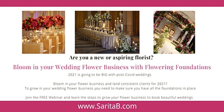 Bloom in your wedding flower business with Flowering Foundations tickets