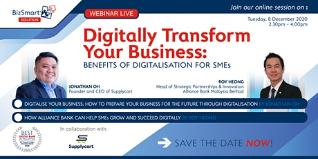 Digitalise Your Business: How to Prepare Your Business for The Future tickets
