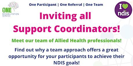 Support Coordinators - One Rehabilitation Service Event tickets