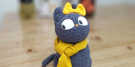 Sock Crafting - Big Eye Meow Meow Cat (2 sets of materials) tickets