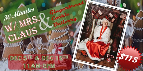 Mrs. Claus Visit & Cookie Delivery tickets