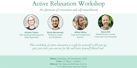 Active Relaxation Workshop tickets