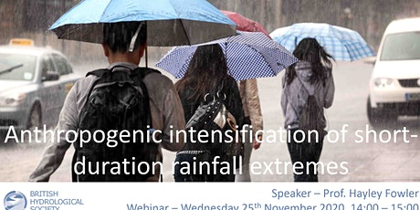 Anthropogenic intensification of short-duration rainfall extremes tickets