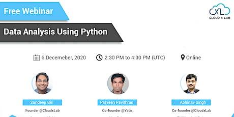 Free Webinar on Data Analysis Using Python tickets