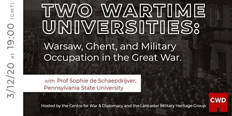 Warsaw and Ghent Universities and Military Occupation in the Great War tickets