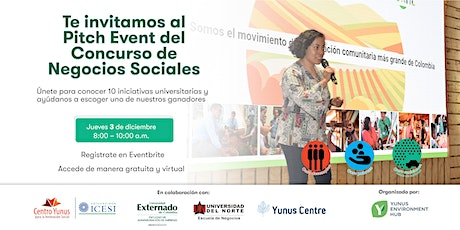 Evento Pitch Concurso de Ideas de Negocios Sociales 2020 entradas