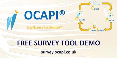 OCAPI free survey tool online demo tickets