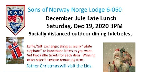 19 Dec2020 Norway Hall Jule Late Lunch tickets