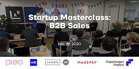 (virtual) Startup Masterclass: B2B Sales tickets