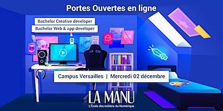 Portes Ouvertes en ligne - Bachelor Creative, Web & app developer billets