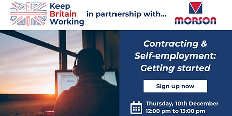 Contracting & Self-employment: Getting started tickets