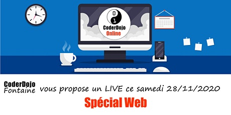 CoderDojo Fontaine - ONLINE - Spécial Web - 28/11/2020 tickets