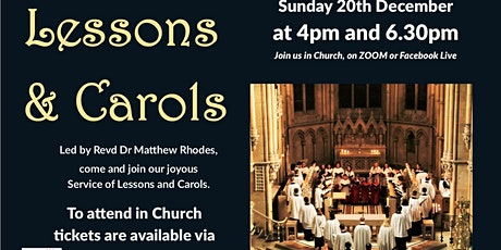 A Service of Lessons and Carols - 6.30pm tickets