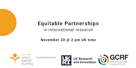 Equitable Partnerships in International Research tickets