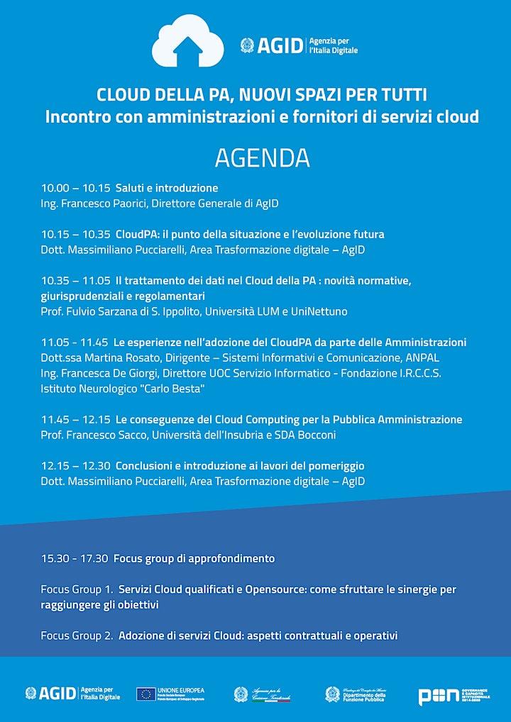 Immagine Cloud della PA - Incontro con amministrazioni e fornitori
