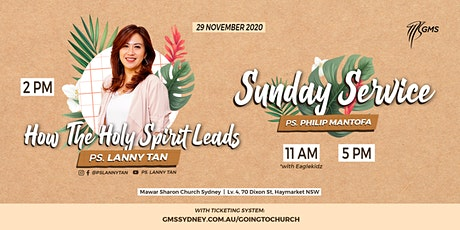 Sunday Live Service 1 (w/ Eagle Kidz) @ 11am -  29 November 2020 tickets