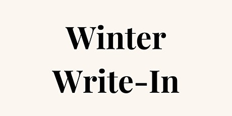 Winter Write-In tickets