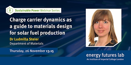 Charge carrier dynamics as a guide to materials design for solar fuel tickets
