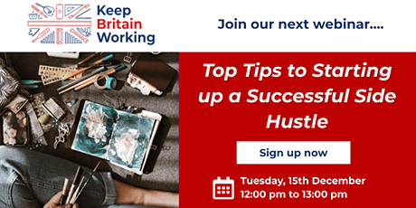 Top Tips to Starting up a Successful Side Hustle tickets
