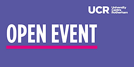 University Centre Rotherham | Virtual Open Event tickets