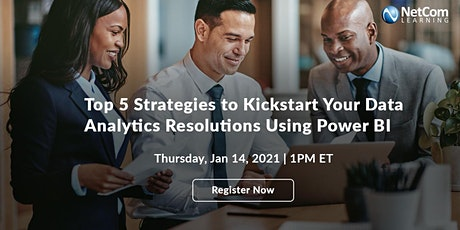 Webinar - Kickstart Your Data Analytics Resolutions Using Power BI tickets