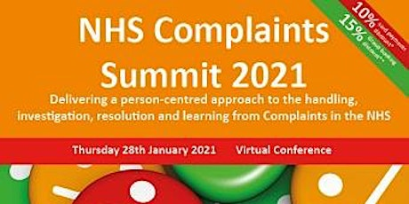 NHS Complaints Summit 2021 tickets