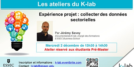 K-lab Workshops - Expérience projet : collecter des données sectorielles billets