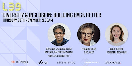 Diversity & Inclusion: Building Back Better tickets