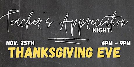 Teacher Appreciation Night @ Savvor Lounge & Restaurant tickets
