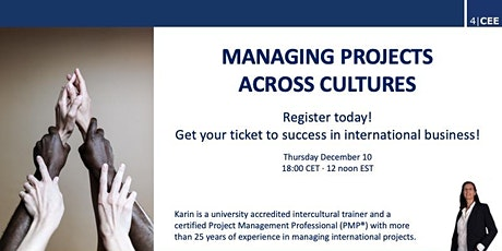 Managing Projects Across Cultures tickets