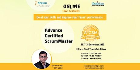 A-CSM® Virtual Training (16-17 -18 Dec'20) 5:30  AM – 11:00 AM EST tickets