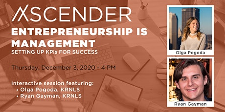Entrepreneurship is Management: Setting up KPIs for Success tickets