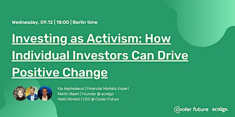 Investing as Activism: How Individual Investors Can Drive Positive Change tickets