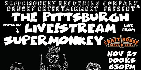 Pittsburgh Live!Stream featuring Supermonkey tickets