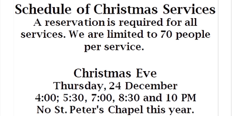 St. Luke's Christmas Services tickets