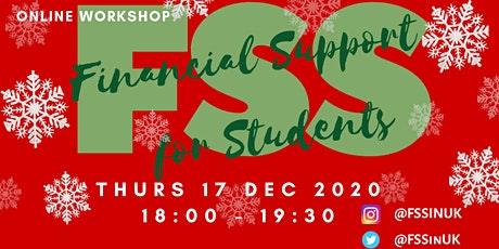 FSS - Financial Support for Students Workshop (December) tickets