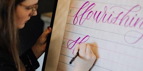 INTERMEDIATE Modern Calligraphy: Online Workshop! tickets