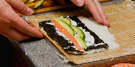 Virtual Sushi Rolling Class with Ingredients and Sushi Mat tickets