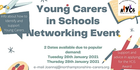 Young Carers - Primary School's Professionals Networking Event  (Thursday) tickets