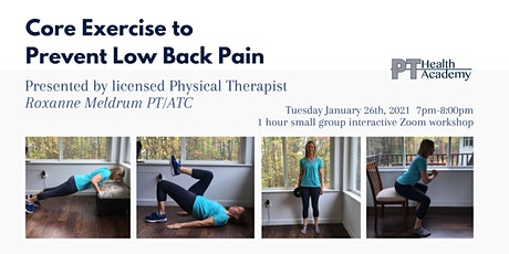 Core Exercise to Prevent Low Back Pain tickets