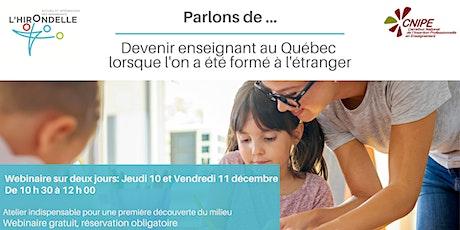 Devenir enseignant au Québec lorsque l'on a été formé à l'étranger tickets