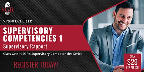 Supervisory Competencies 2021 (II) - Supervisory Rapport tickets