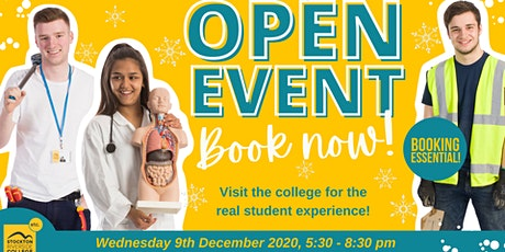 Stockton Riverside College Open Event - 9th December 2020! tickets
