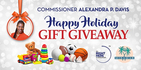 """Commissioner Alexandra P. Davis Presents """"Happy Holiday Gift Giveaway"""" tickets"""