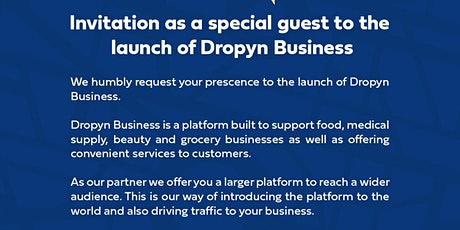 DROPYN BUSINESS LAUNCH tickets