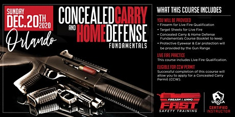 Orlando|CCW - Firearm & Ammo Safety Training Course - (Dec 20, 2020) tickets
