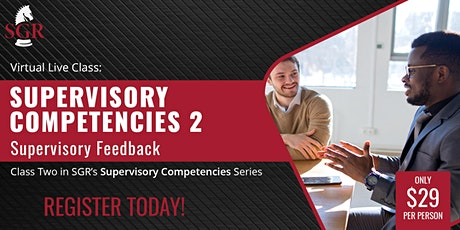 Supervisory Competencies 2021 (II) - Supervisory Feedback tickets