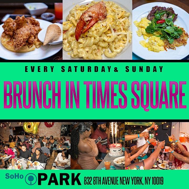SUNDAY CARIBBEAN BOOZY BRUNCH - SOHO PARK #TIMESSQUARE image